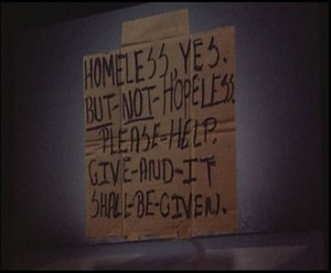 Homeless not Hopeless (photo by MarsMettnn)
